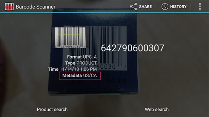 Sau khi, thực hiện xong thao tác quét mã vạch, bạn sẽ nhận được thông tin như hình