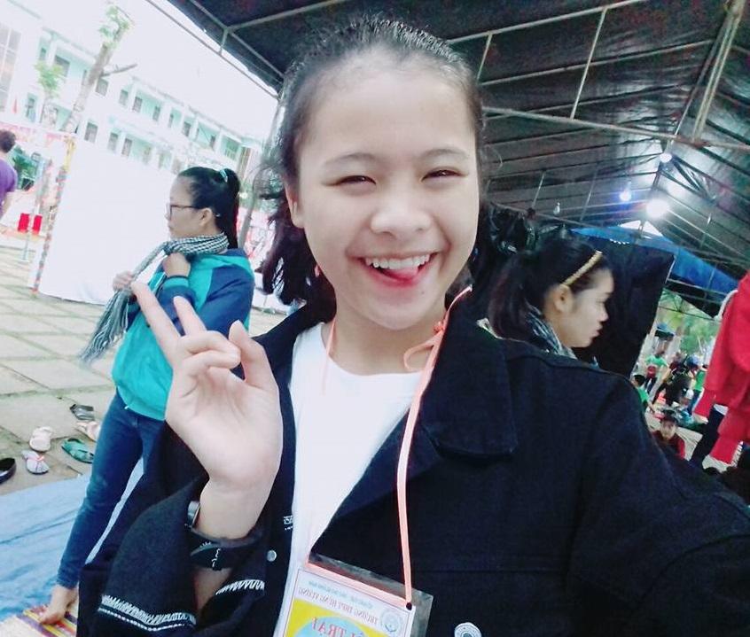 Bạn Lan Trinh, học sinh trường THPT tại Tp.HCM