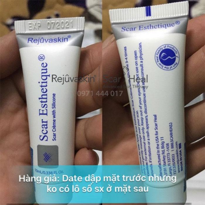 Bạn cần để ý phần date nằm sau sản phẩm kem trị sẹo Scar Heal