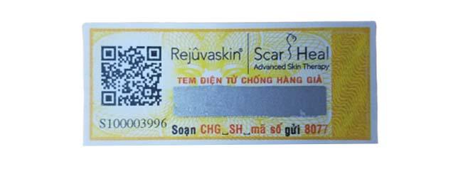 Tem màu vàng là tem chống hàng giả của sản phẩm nhập khẩu được xác thực bởi cục quản lý dược và đại sứ quán.