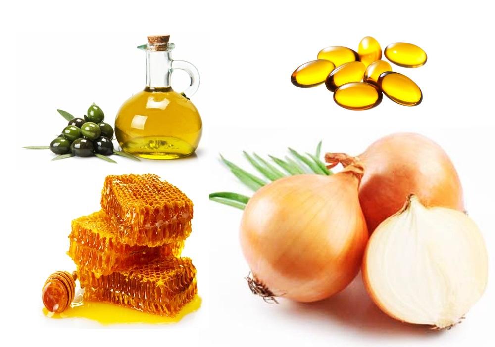 Da nhẵn mịn với hỗn hợp hành tây và dầu oliu